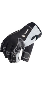 2021 Crewsaver Junior Short Finger Gloves Black 6950