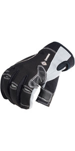2019 Crewsaver Long Three Finger Gloves Black 6951