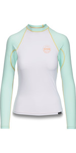 2019 Dakine Dame Flow Snug Fit Long Sleeve Rash Vest Pastel 10002331