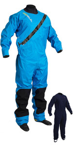 2020 Gul Dartmouth Eclip Zip Drysuit Inc Underfleece Azul Gm0378-b5