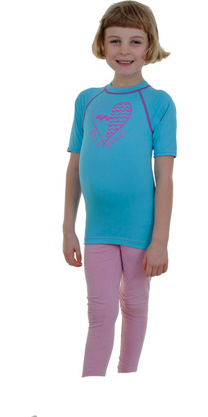 Billabong Amore Dots Maniche corte Rash giubbotto in Aqua P4KY11