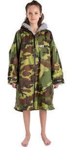 2021 Dryrobe Advance Junior Long Sleeve Premium Outdoor Change Robe / Poncho DR104 - Camo