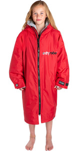 2021 Dryrobe Advance Junior Manga Longa Premium Outdoor Change Robe / Poncho Dr104 - Vermelho / Cinza