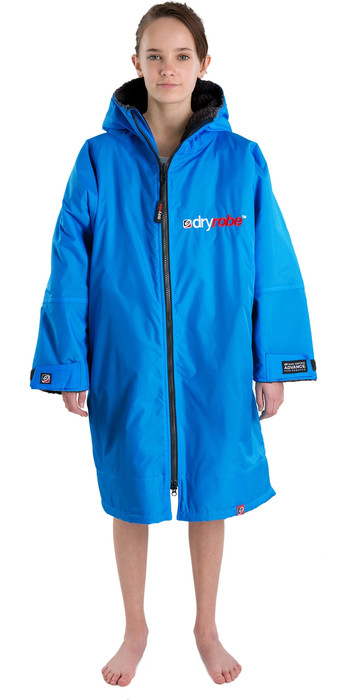 Waterproof Changing Dry Robe Poncho Long Sleeve Blue all sizes
