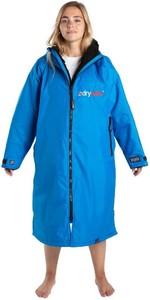 2020 Dryrobe Longues Robe De Changement D'extérieur / Poncho DR104 - Bleu Cobalt / Noir