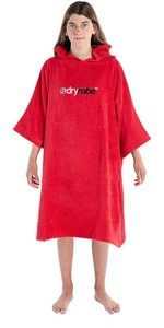 2020 Bata De Toalla De Algodón Orgánico Dryrobe Junior - Rojo