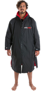 2020 Dryrobe Advance Long Sleeve Premium Outdoor Change Robe / Poncho DR104 - Black / Red