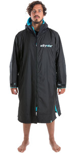 2019 Dryrobe Advance Long Sleeve Premium Outdoor Change Robe / Poncho DR104 Black / Blue