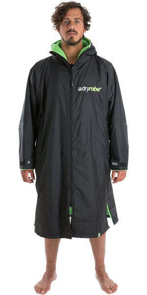 2018 Dryrobe Advance - Long Sleeve Premium Outdoor Change Robe DR104 - M Black / Green