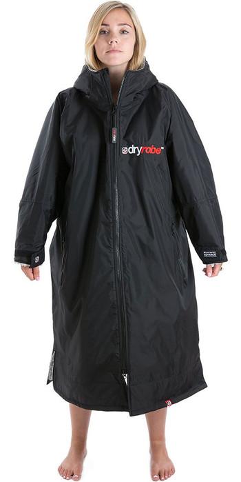 2021 Dryrobe Advance Dryrobe Premium Outdoor Wechsel Robe / Poncho Dr104 - Schwarz / Grau