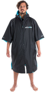 2019 Dryrobe Advance Short Sleeve Premium Outdoor Change Robe / Poncho DR100 Black / Blue
