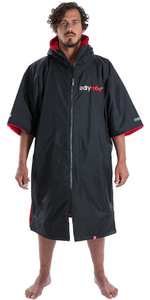 2020 Dryrobe Advance Short Sleeve Premium Outdoor Change Robe / Poncho DR100 - Black / Red