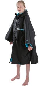 2020 Dryrobe Advance Junior Mangas Compridas Premium Outdoor Mudança Robe / Poncho Dr104 - Preto / Azul