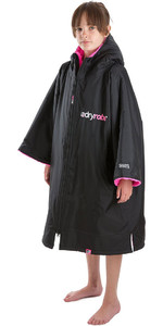 2020 Dryrobe Advance Junior Long Sleeve Premium Outdoor Change Robe / Poncho DR104 - Black / Pink