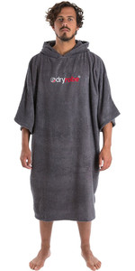 2019 Dryrobe Short Sleeve Towel Change Robe / Poncho Slate Grey