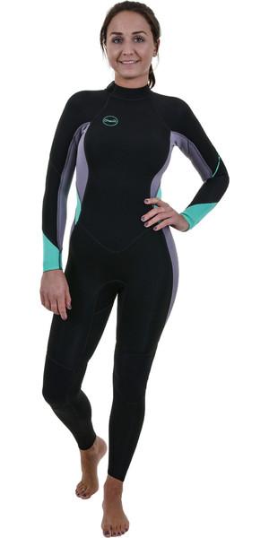 2019 O'Neill Bahama's 3 / 2mm back Zip Wetsuit Zwart / Dusk 5292 voor dames