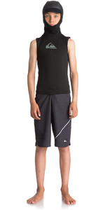 Quiksilver Junior Syncro Plus Thermal Vest with Neo Hood Black EQBW003001