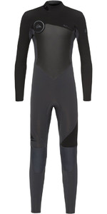 2018 Quiksilver Boys Syncro 3/2mm Back Zip Wetsuit Graphite / Black EQBW103023