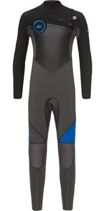 Quiksilver Boys Syncro plus 5/4 / 3mm Bryst Zip Wetsuit Black / Deep Cyanine EQBW103031