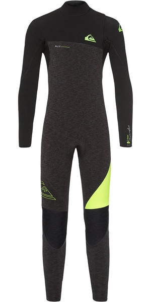 2018 Quiksilver Boys Highline 4 / 3mm Zipperless Wetsuit Nero Heather EQBW103035