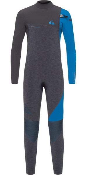 2018 Quiksilver Boys Highline 4 / 3mm Reißverschlussloser Neoprenanzug Schiefer Heather EQBW103035