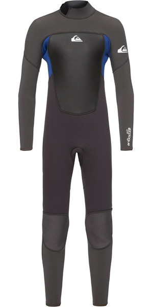 2018 Quiksilver Boys Prologue 3/2mm Back Zip Wetsuit Black / Nite Blue EQBW103039