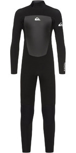 2020 Quiksilver Boy Prologue 5/4 5/4/3mm Back Zip Combinaison Noir EQBW103040