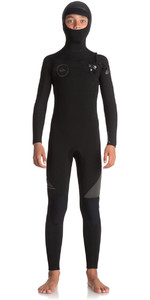 Quiksilver Boys Syncro 5/4/3mm Hooded Chest Zip Wetsuit Black / Jet Black EQBW203001