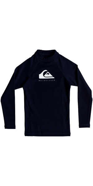 2018 Quiksilver Boys Heather Long Sleeve Rash Vest Medieval Blue EQBWR03061