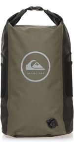 2019 Quiksilver Sea Stash Ii 35l Roll Top Back Pack Tomillo Eqybp03485
