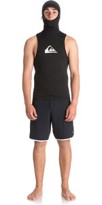 2018 Quiksilver Syncro + Thermal Vest with Neo Hood Black EQYW003000