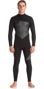 2018 Quiksilver Syncro 4/3mm Back Zip Wetsuit Jet Black EQYW103041