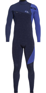2019 Quiksilver Highline 3/2mm Zipperless Wetsuit Navy Heather EQYW103062