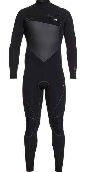 2018 Quiksilver Highline Plus 4 / 3mm Peito Zip Wetsuit Preto EQYW103059