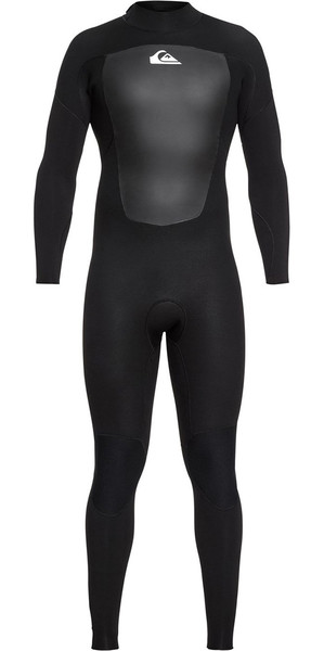 2018 Quiksilver Prologue 5/4 / 3mm Zip Combinaison Noir EQYW103072