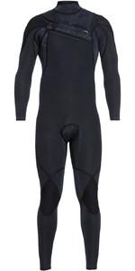 2018 Quiksilver Mens Highline Ltd Monochrome 4/3mm Chest Zip Hydrolock Wetsuit BLACK EQYW103074
