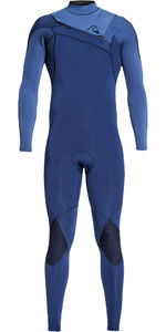 2019 Quiksilver Mens Highline Ltd Monochrome 4/3mm Chest Zip Hydrolock Wetsuit Iodine Blue / Cascade Blue EQYW103074