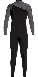 2019 Quiksilver Mannen Highline Ltd Monochrome 3/2mm Chest Zip Hydrolock Wetsuit Zwart / Jet Black Eqyw103075