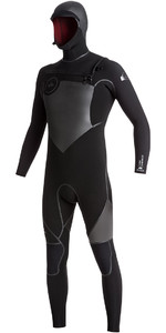 Quiksilver Syncro Plus 5/4/3mm Hooded Chest Zip Wetsuit Black EQYW203004