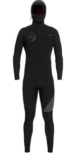 2018 Quiksilver Syncro 5/4/3mm Hooded Chest Zip Wetsuit Black / Jet Black EQYW203005