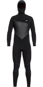 2019 Quiksilver Highline Plus Quiksilver 5/4/3mm Traje De Neopreno Con Chest Zip Capucha Negro Eqyw203009