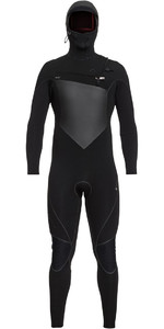 2018 Quiksilver Highline Plus 6/5 / 4mm Com Capuz Peito Zip Wetsuit Preto EQYW203010