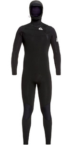 2019 Quiksilver Mannen Syncro 5/4/3mm Chest Zip Wetsuit Zwart / Wit Eqyw203014