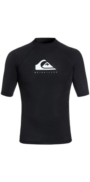 2018 Quiksilver Heather Short Sleeve Rash Vest Sort EQYWR03134
