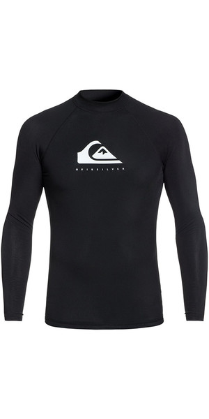 2018 Quiksilver Heather Long Sleeve Rash Vest Sort EQYWR03135