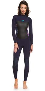 Roxy Womens Syncro 3/2mm Back Zip Wetsuit Blue Ribbon ERJW103024