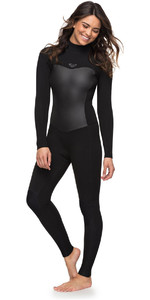 Roxy Womens Syncro 3/2mm Back Zip Wetsuit Black ERJW103024
