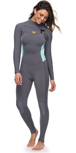 Roxy Womens Syncro 3/2mm Chest Zip Wetsuit Deep Grey ERJW103025