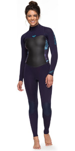 Roxy Womens Syncro 5/4/3mm Back Zip Wetsuit Blue Ribbon ERJW103028
