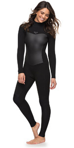 Roxy Womens Syncro 4/3mm Back Zip Wetsuit Black ERJW103027